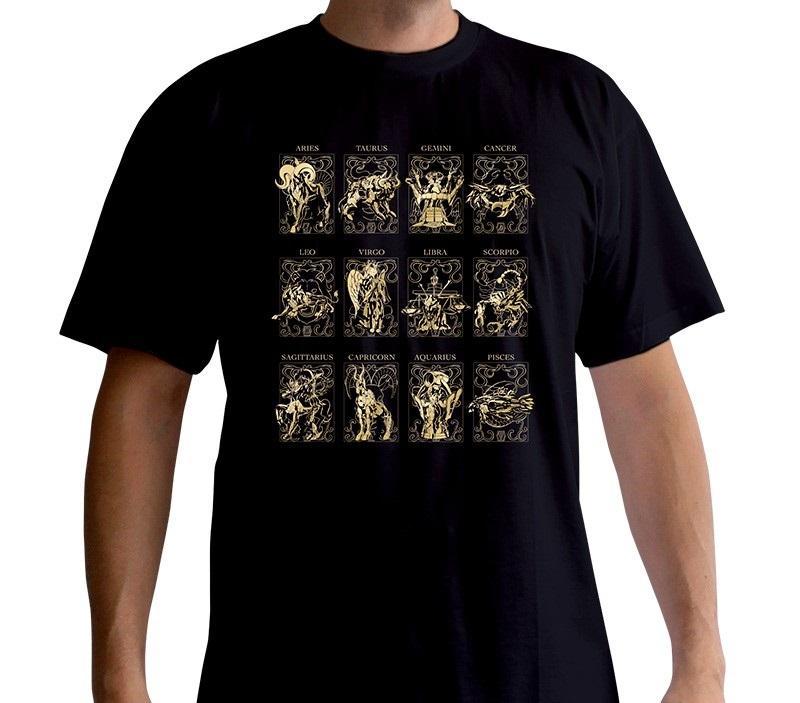 SAINT SEIYA - T-Shirt - 12 Armures d'Or (XS)