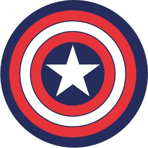 CAPTAIN AMERICA - Tapis d'intérieur - Diamètre 80cm - Shield
