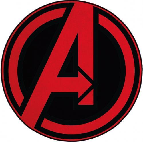 AVENGERS - Tapis d'intérieur - Diamètre 80cm - Logo