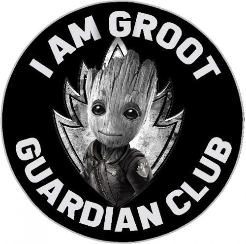 GROOT - Tapis d'intérieur - Diamètre 80cm - I am Groot Guardian Club