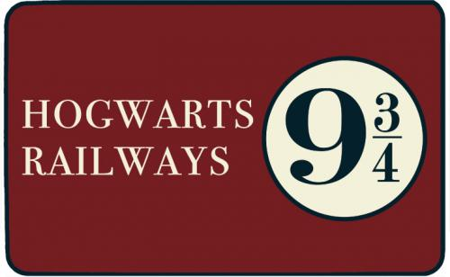 HARRY POTTER - Tapis d'intérieur - 70x50cm - Hogwarts Railways