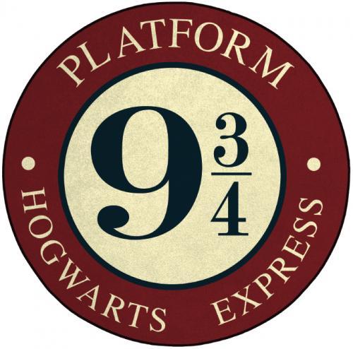 HARRY POTTER - Tapis d'intérieur - Diamètre 80cm - Platforme 9 3/4