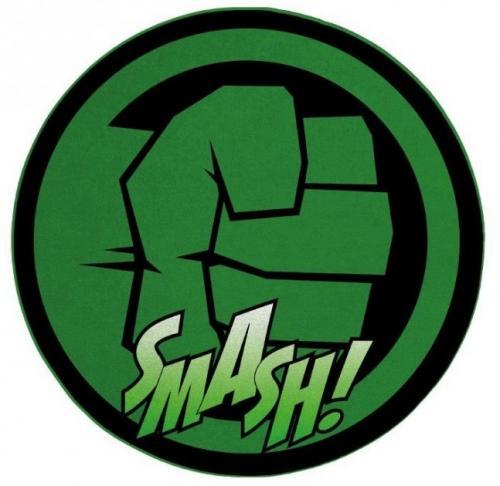 HULK - Tapis d'intérieur - Diamètre 80cm - Hulk Smash