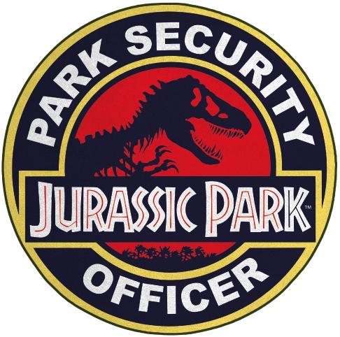 JURASSIC PARK - Security Officer - Tapis d'intérieur diamètre 80cm_1