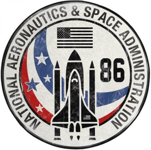 NASA - Tapis d'intérieur - Diamètre 80cm - Space Shuttle