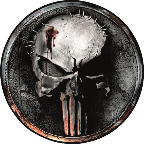 THE PUNISHER - Tapis d'intérieur - Diamètre 80cm - Punisher Face