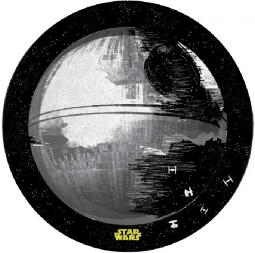 STAR WARS - Tapis d'intérieur - Diamètre 80cm - Etoile Noire