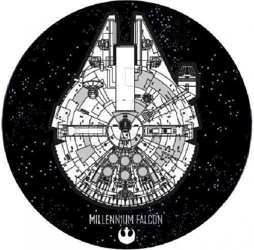 STAR WARS - Tapis d'intérieur - Diamètre 80cm - Millennium Falcon