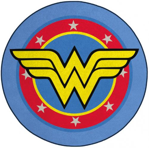 WONDER WOMAN - Tapis d'intérieur - Diamètre 80cm - Logo Wonder Woman