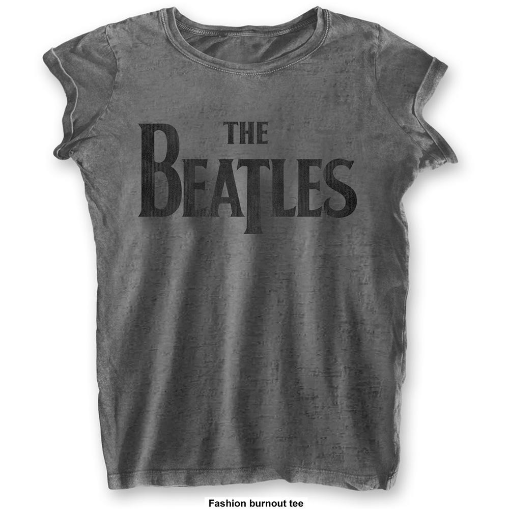 THE BEATLES - T-Shirt BurnOut Col - Drop T Logo - Woman (L)