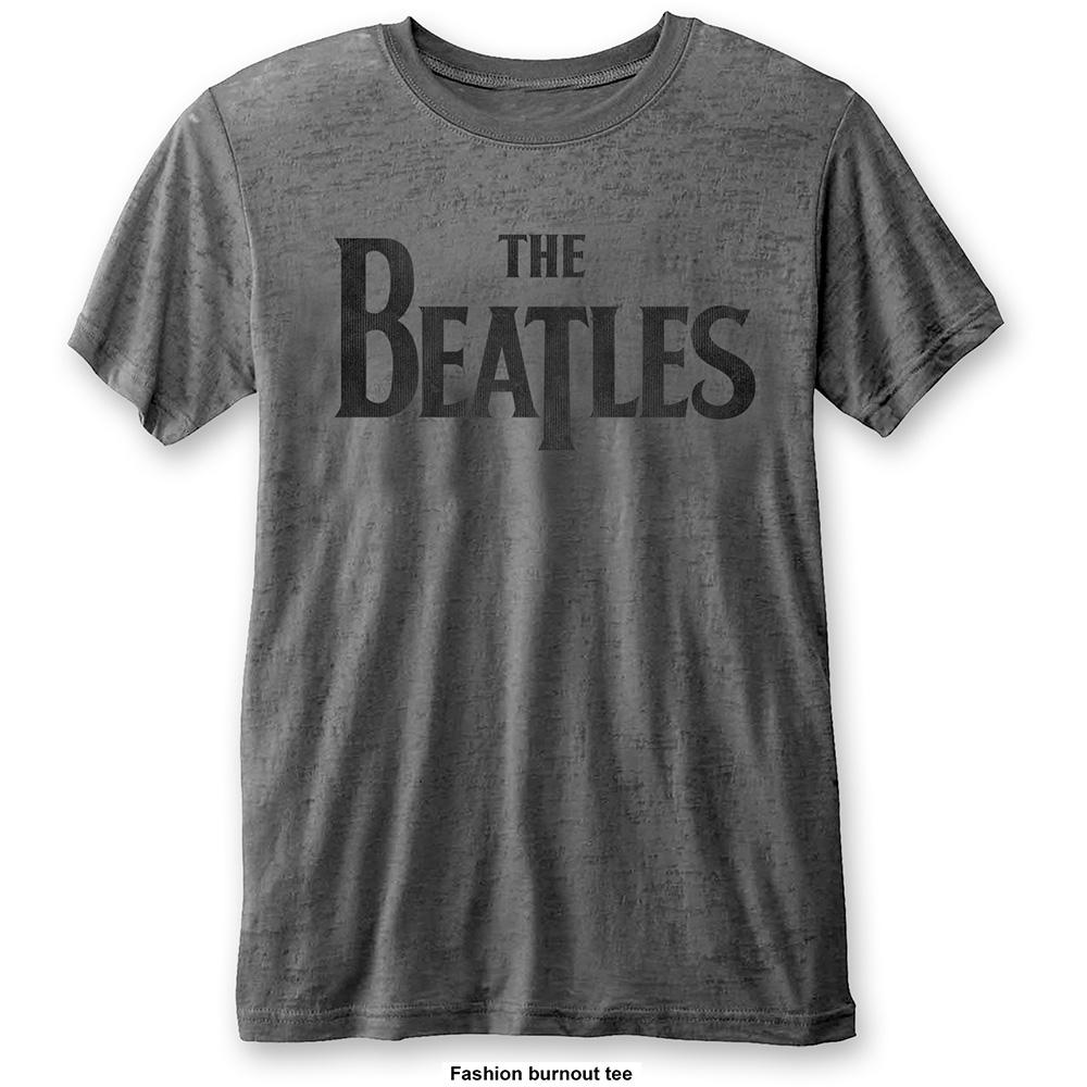 THE BEATLES - T-Shirt BurnOut Col - Drop T Logo - Men (L)