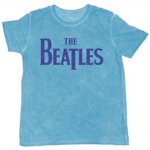 THE BEATLES - T-Shirt BurnOut Col - Logo Blue - Men (L)