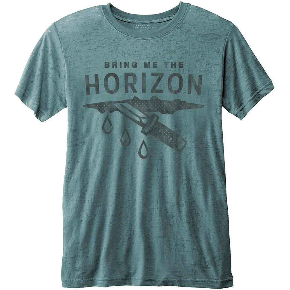 BRING ME THE HORIZON - T-Shirt - Wound - Turquoise - Men (L)