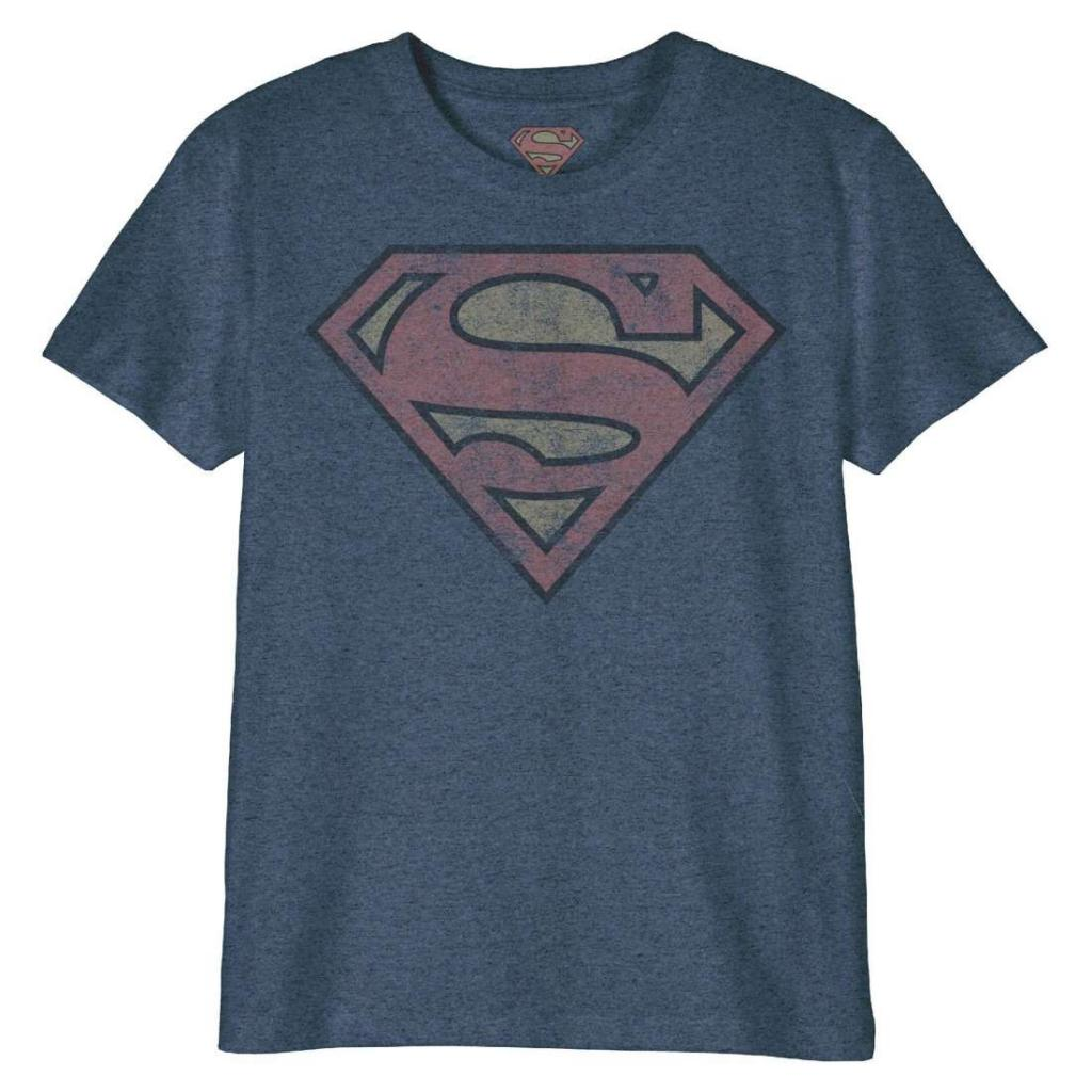 DC COMICS - T-Shirt Enfant - Superman Logo Grunge (6 ans)