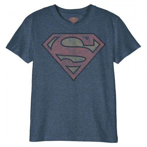 DC COMICS - T-Shirt Enfant - Superman Logo Grunge (10 ans)