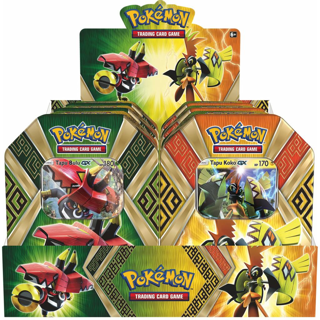 POKEMON JCC - Tin Box - GX Summer 2017 (UK) DISPLAY 6 Unit