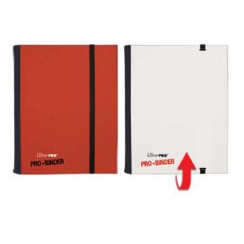 ULTRA PRO - Pro-Binder - 4 Pocket Portfolio - 80 Cards - Red/White