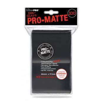 ULTRA PRO - Standard Deck Protector PRO-Matte Black '100 Sleeves'