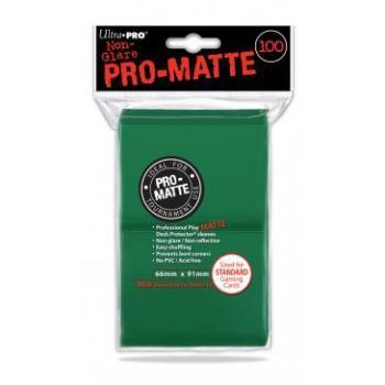 ULTRA PRO - Standard Deck Protector PRO-Matte Green '100 Sleeves'