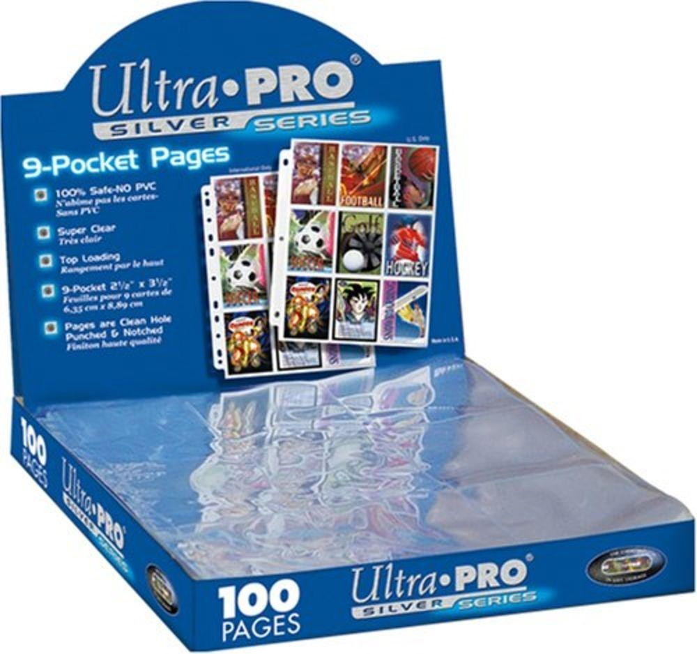 ULTRA PRO - 9-Card Pages Silver '11 Hole' - Display 100 Pces