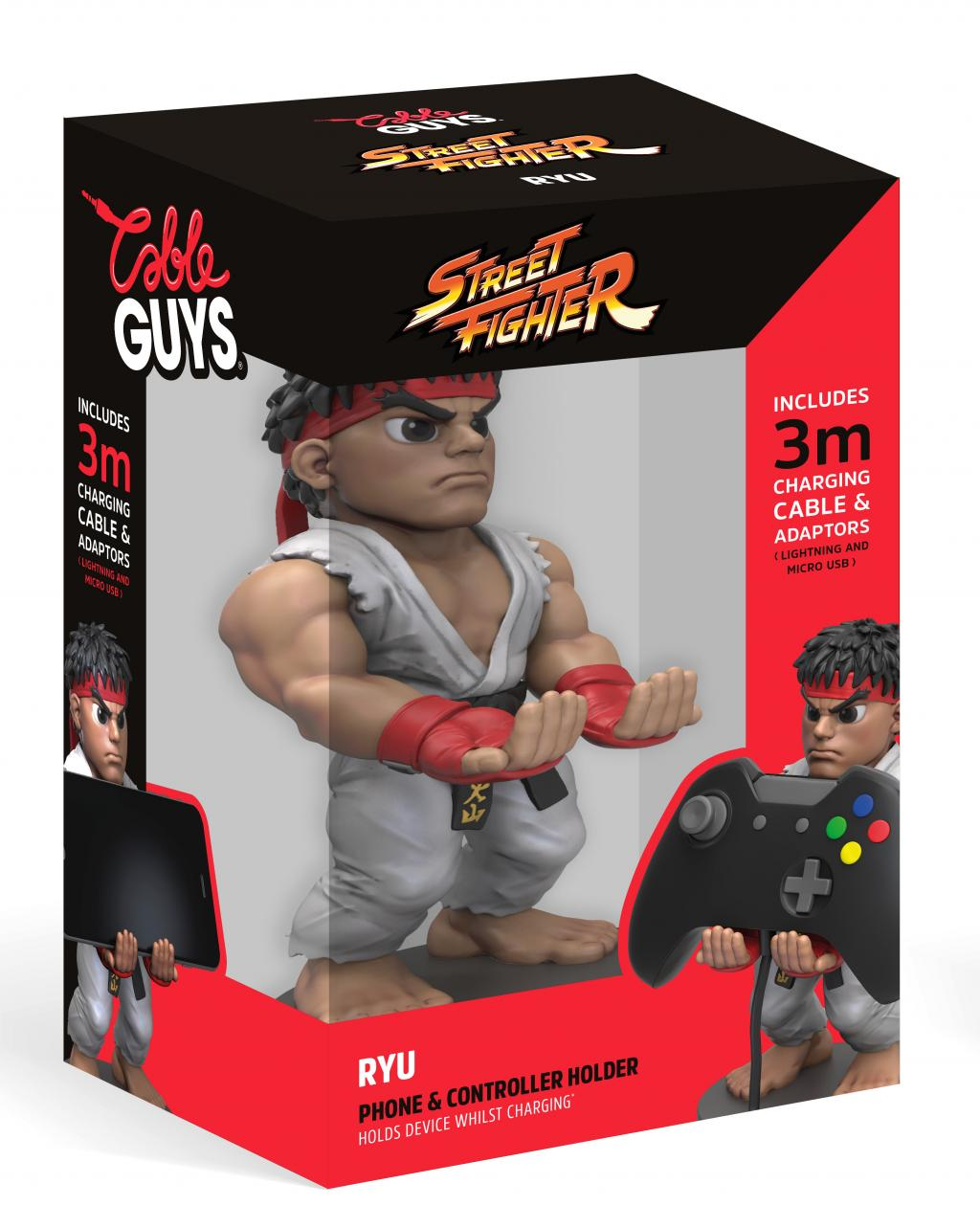 CABLE GUYS Charging Holder - Street Fighter 5 - Ryu - 25cm