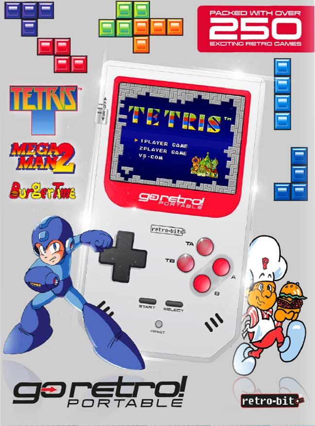 Go Retro – Portable console (250 GAMES INCLUDED)