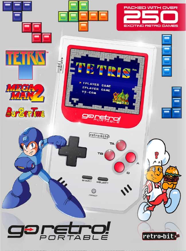 Go Retro – Portable console (250 GAMES INCLUDED)
