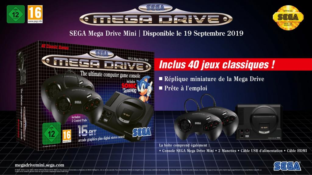 Official Sega Mega Drive Mini - (40 games included) - Games UK only_2