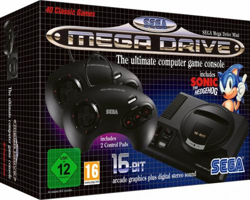 Official Sega Mega Drive Mini - (40 games included) - Games UK only