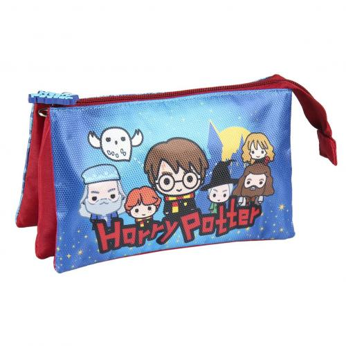 HARRY POTTER - Trousse 3 zippers - B