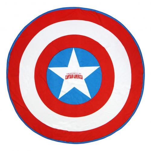 MARVEL - Serviette de Bain Rond 130cm - Captain America