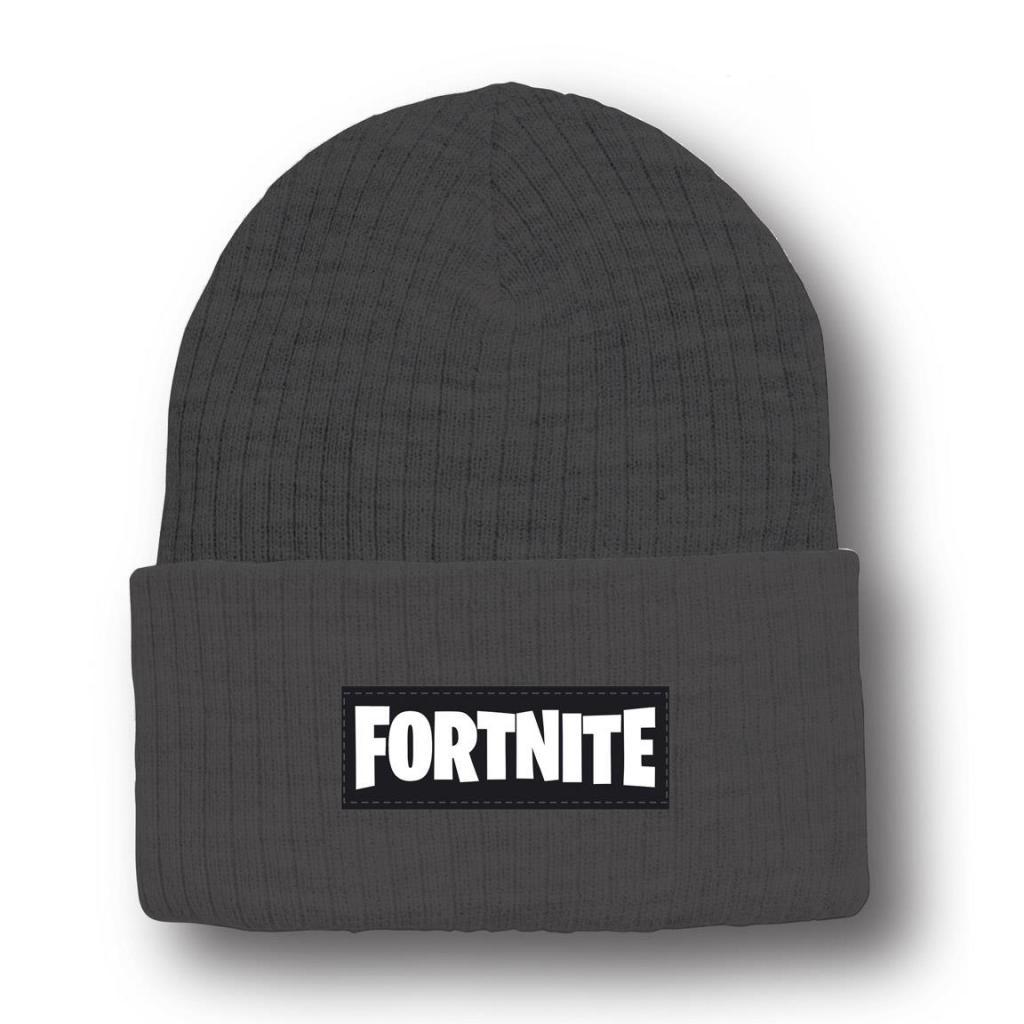 FORTNITE - Bonnet Logo Gris  - Taille Unique 8-16 ans