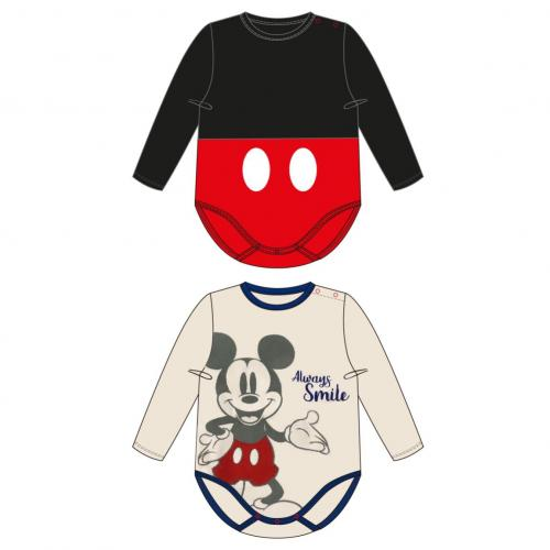 DISNEY - Pack de 2 bodies Mickey - (6 mois)
