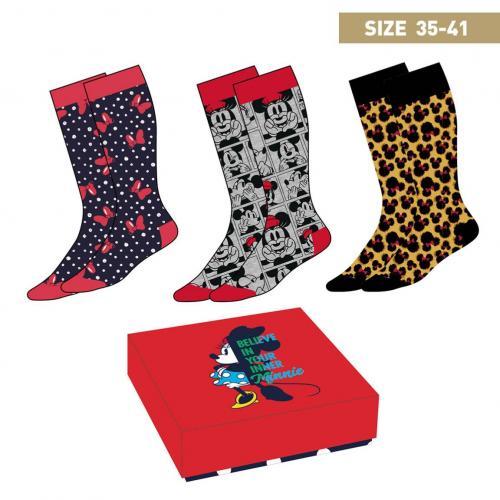 MINNIE MOUSE - Pack de 3 paires de chaussettes (P35-41)