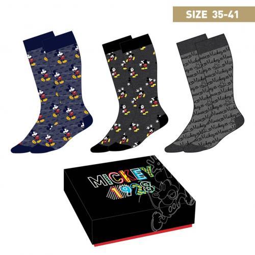 MICKEY MOUSE - Pack de 3 paires de chaussettes (P35-41)