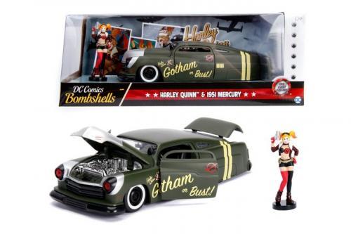 DC COMICS - Bombshells Harley Quinn 1951 Mercury - 1:24