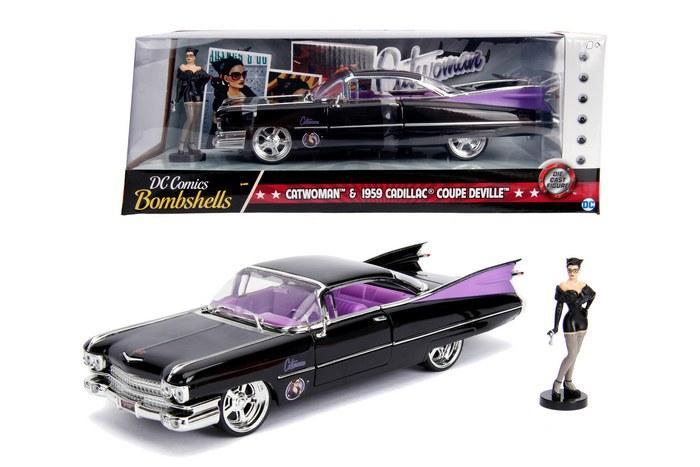 DC COMICS - Bombshells Catwoman 1959 Cadillac Coupe Deville - 1:24_1