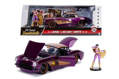 DC COMICS - Bombshells Batgirl 1957 Chevy Corvette - 1:24