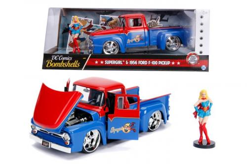 DC COMICS - Bombshells Supergirl 1956 Ford F-100 Pickup - 1:24