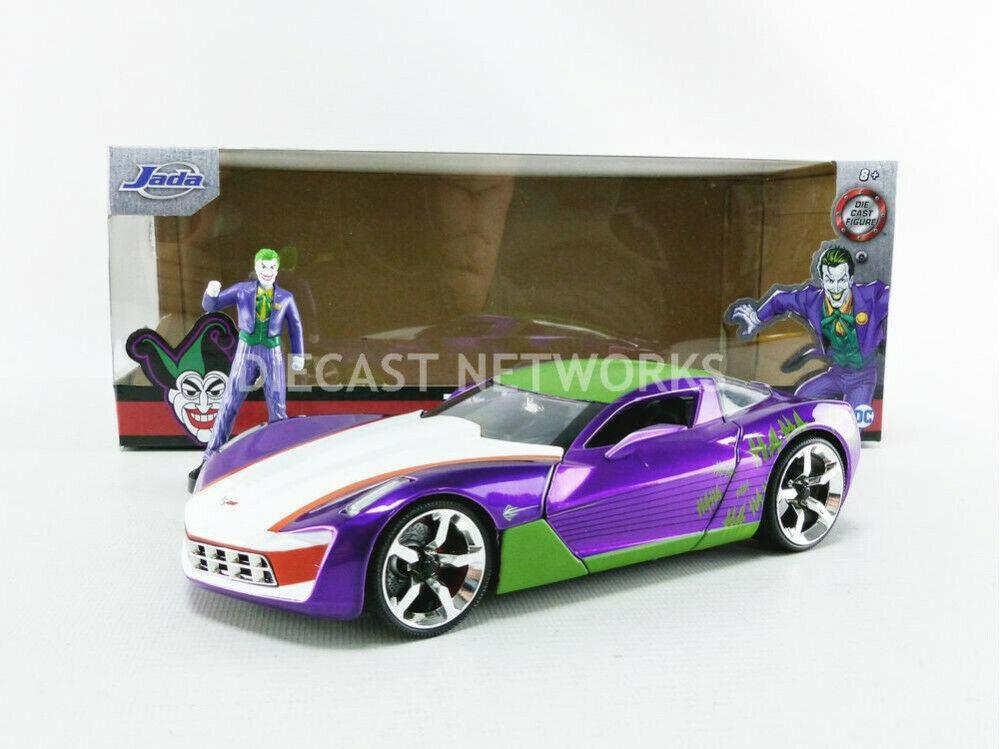 DC COMICS - Joker 2009 Chevy Corvette Stingray - 1:24_1