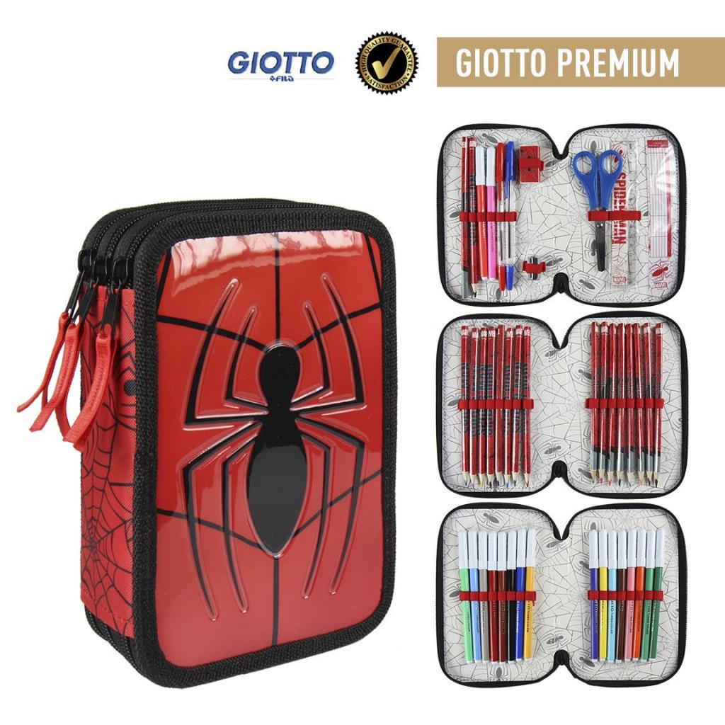 MARVEL - Spiderman - Trousse Triple Tirettes - Premium