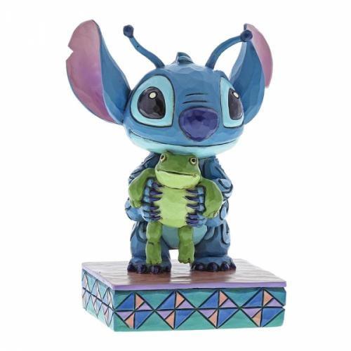 DISNEY Traditions - Stitch with Frog Figurine - 10cm