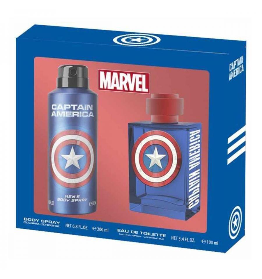 MARVEL - Parfum + Body Spray - Captain America - Edition Speciale