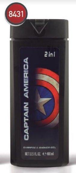 MARVEL - Shampoing et Gel Douche 2 en 1 - Captain America - 400ml