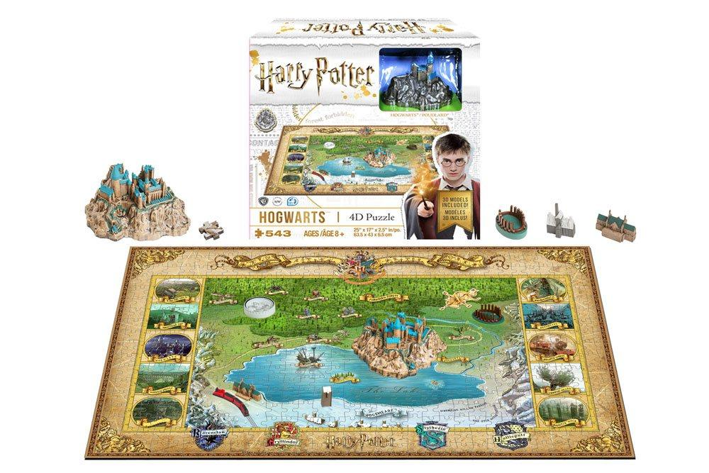 HARRY POTTER - 4D Puzzle - Mini Hogwarts 500 Pces