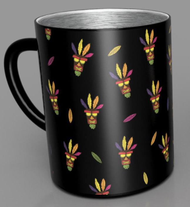 CRASH BANDICOOT - Steel Mug 350 ml - Aku Aku