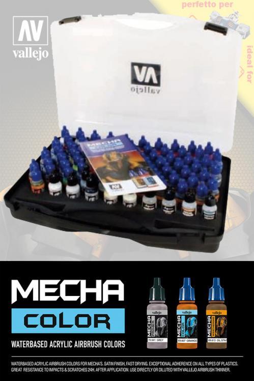 GUNDAM ACC - MECHA COLOR 69990 Case - Set 80 couleurs