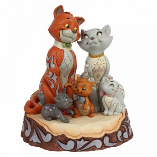 DISNEY Traditions - Aristocats Carved by Heart Figurine - '18x15x15'