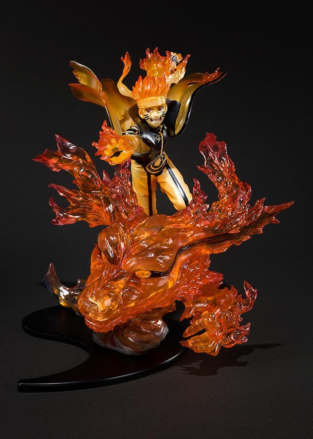 NARUTO ZERO - Naruto Kurama Relation Statue Figuarts - 22cm (Bandai)