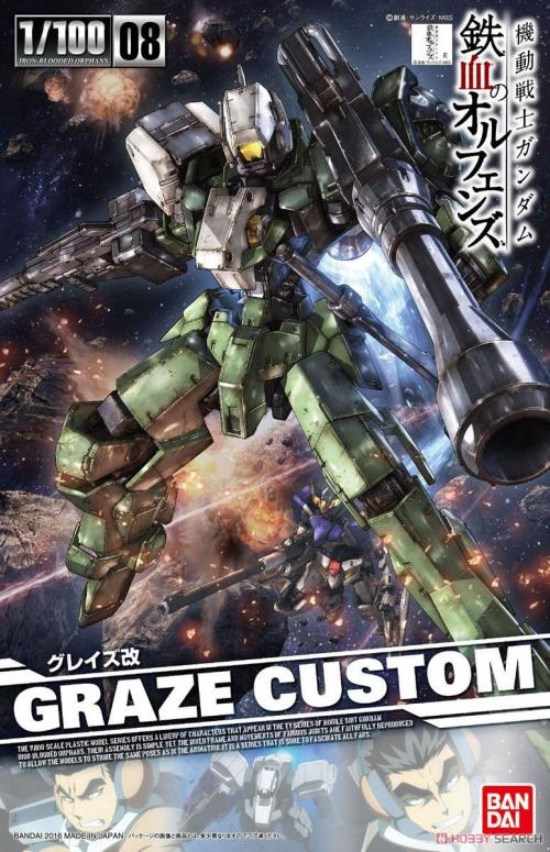 GUNDAM - IBO 1/100 Graze Custom - Model Kit - 8cm